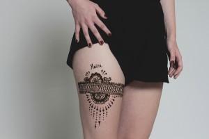 Henna festés combra
