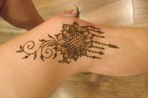 Henna festés lábra